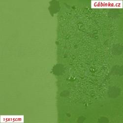 Zimní softshell - MAGIC, Kaňky na zelené, 15x15 cm