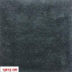 Plyš - jednobarevný, tmavě šedý 719, šíře 180 cm, 10 cm, 2. jakost