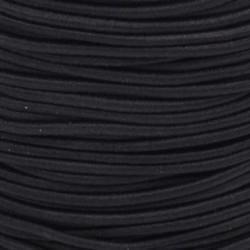 Pruženka, guma - kulatá, černá 0001, průměr 3 mm, 1 m