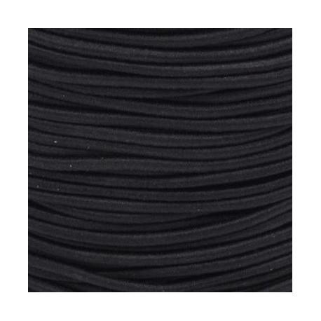 Pruženka, guma - kulatá, černá, průměr 3 mm, 1 m