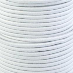 Pruženka, guma - kulatá, bílá 0003, průměr 3 mm, 1 m