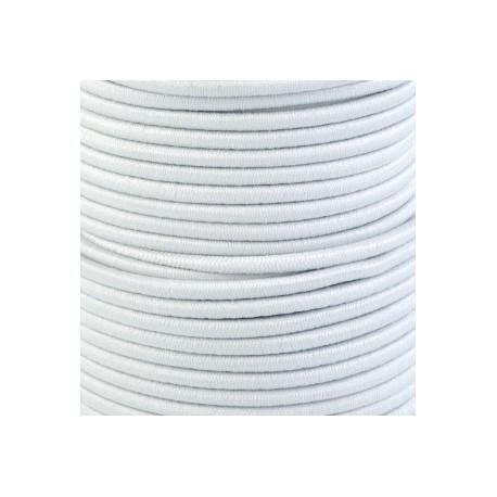 Pruženka, guma - kulatá, bílá, průměr 3 mm, 1 m