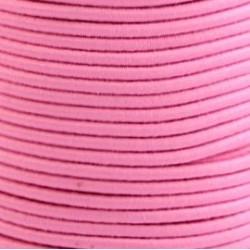 Pruženka, guma - kulatá, světle růžová 3403, průměr 3 mm, 1 m