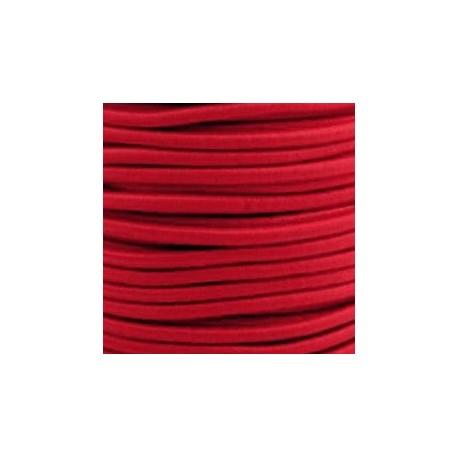 Pruženka, guma - kulatá, červená, průměr 3 mm, 1 m