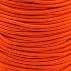 Pruženka, guma - kulatá, NEON oranžová 2127, průměr 3 mm, 1 m
