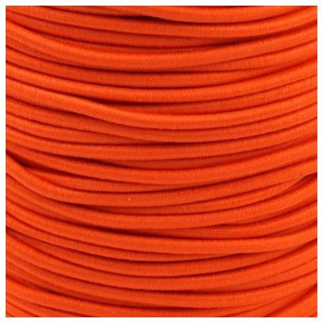 Pruženka, guma - kulatá, neon oranžová, průměr 3 mm, 1 m