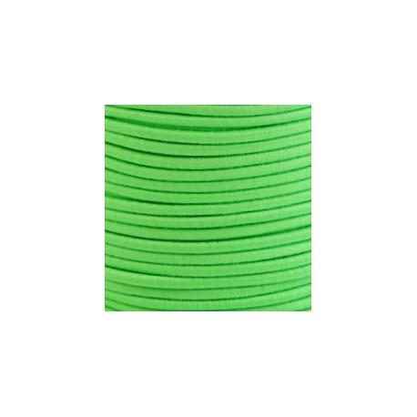 Pruženka, guma - kulatá, NEON zelená 5474, průměr 3 mm, 1 m