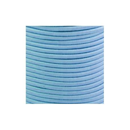 Pruženka, guma - kulatá, světle modrá 4904, průměr 3 mm, 1 m