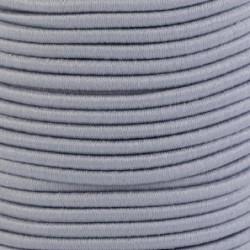 Pruženka, guma - kulatá, světle šedá 8693, průměr 3 mm, 1 m