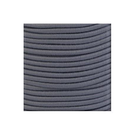 Pruženka, guma - kulatá, tmavě šedá 8477, průměr 3 mm, 1 m