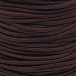 Pruženka, guma - kulatá, tmavě hnědá, průměr 3 mm, 1 m
