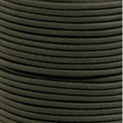 Pruženka, guma - kulatá, khaki 6507, průměr 3 mm, 1 m