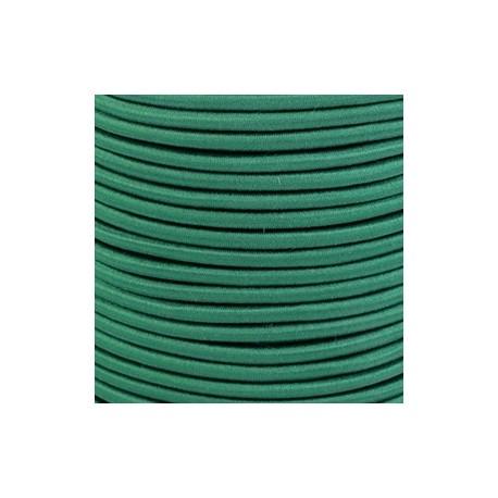 Pruženka, guma - kulatá, tmavě zelená 6395, průměr 3 mm, 1 m