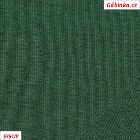 Teplákovina s EL, tmavě zelená, 5x5cm