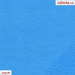 Teplákovina s EL, A - tyrkysová, šíře 165 cm, 10 cm, TEL-1051
