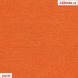 Teplákovina nepočesaná A 1127 - Oranžová, šíře 165 cm, 10 cm, ATEST 1