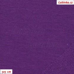 Teplákovina s EL, Fialová, 15x15cm