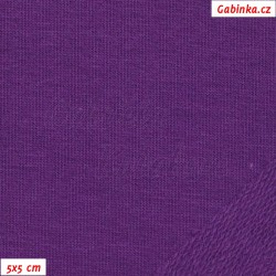 Teplákovina s EL - fialová, šíře 165 cm, 10 cm, TEL-1168