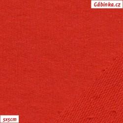 Teplákovina s EL, A - červená, šíře 165 cm, 10 cm, TEL-1021