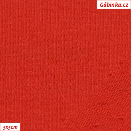 Teplákovina s EL, červená, 5x5cm