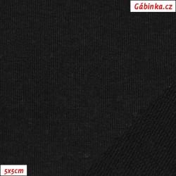 Teplákovina nepočesaná A 2001 - Černá, šíře 165 cm, 10 cm, ATEST 1
