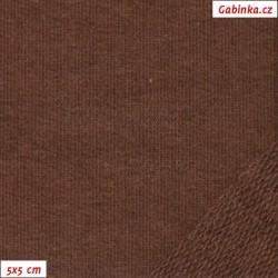 Teplákovina nepočesaná A 1178 - Hnědá, šíře 165 cm, 10 cm, ATEST 1