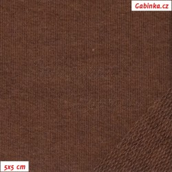 Teplákovina s EL 97/3, A - hnědá 1178, šíře 165 cm, 10 cm, ATEST 1