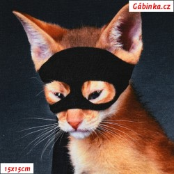 Úplet s EL Digitální tisk - Kočka zlodějka, ATEST 2, 15x15 cm