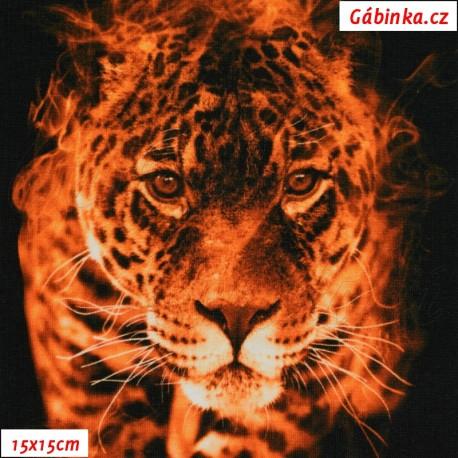 Úplet s EL Digitální tisk - Tygr v plamenech, ATEST 2, 15x15 cm