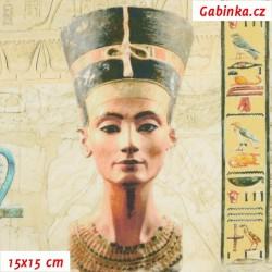 Plátno SOFT - vyšší gramáž, Egypt - digitální tisk, šíře 140 cm, zbytek 45 cm
