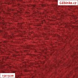 Svetrovina zimní - Vínově červená, 15x15 cm