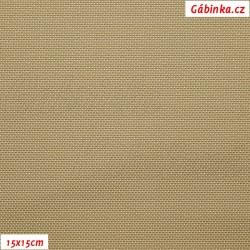 Koženka plastická 04, Zlatá tkaná, šíře 140 cm, 10 cm