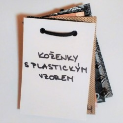 Vzorník - Koženky s plastickým vzorem, 1 ks