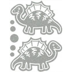 Reflexní nažehlovací potisk - Dinosauři III (2 ks)