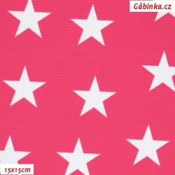Kočárkovina Premium, Hvězdy na růžové 536, 15x15 cm