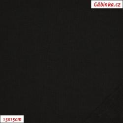Teplákovina počesaná - černá, 15x15 cm