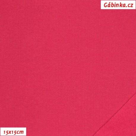 Teplákovina počesaná - růžová B-011, 15x15 cm