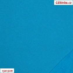 Teplákovina počesaná - tyrkysová B-051, šíře 180 cm, 10 cm