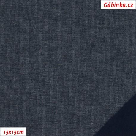 Teplákovina počesaná - jeans, 15x15 cm