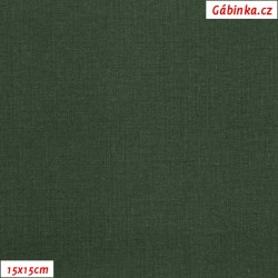 Plátno vánoční - Čistě zelené, 15x15 cm
