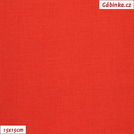 Plátno vánoční - Jasně červené, 15x15 cm