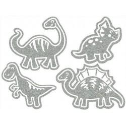 Reflexní nažehlovací potisk - Dinosauři II (4 ks)