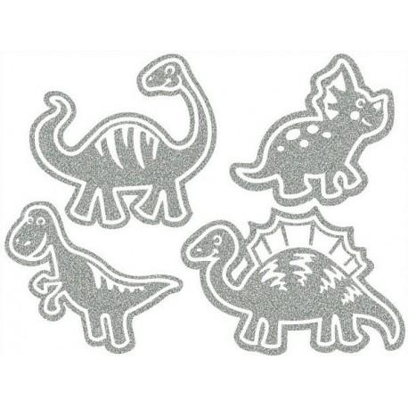 Reflexní nažehlovací potisk - Dino iI (4 ks)