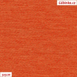 Potahová látka - oranžová, šíře 160 cm, 10 cm