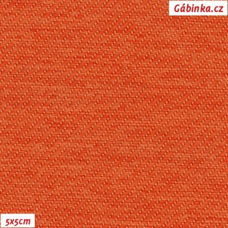 Potahová látka - oranžová, pohled 5x5 cm