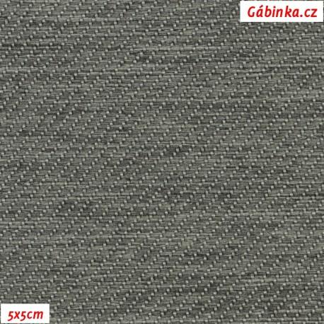 Potahová látka - středně šedá, pohled 5x5 cm