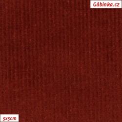 Manšestr, prací kord - elastický, rezavý 661, šíře 148 cm, 10 cm