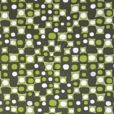 Šusťák, HF, kočárkový - Kostičky a kolečka zelené