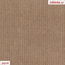 Manšestr, prací kord - elastický, světle hnědý, šíře 148 cm, 10 cm