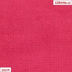 Manšestr, prací kord - elastický, tmavě růžový 567, šíře 148 cm, 10 cm